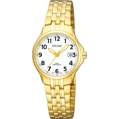 Pulsar Ladies Sports 100M Water Resistant Gold Plated