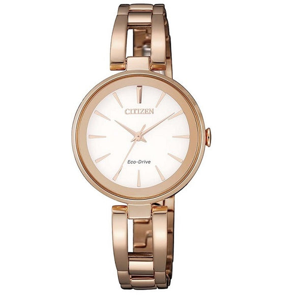 Citizen Ladies Eco-Drive Rose Gold Plate Water Resistant