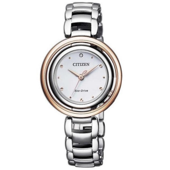 Citizen Ladies Diamond Eco-Drive 50M Water Resistant Sapphire Crystal