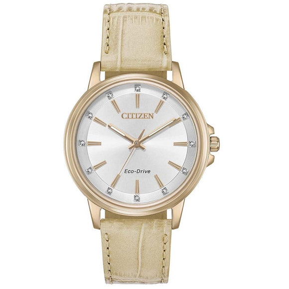 Citizen Ladies Eco-Drive Strap Swarovski Crystals