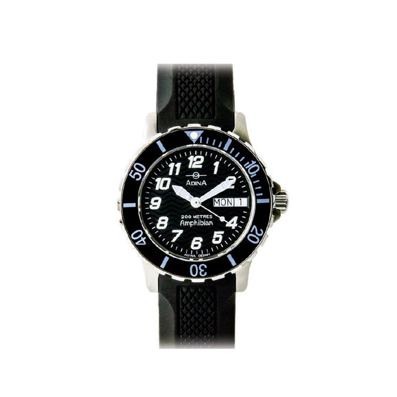 Adina Ladies Amphibian 200M Water Resistant Rubber Strap
