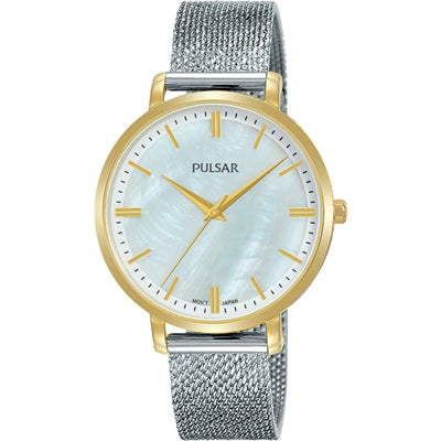 Pulsar 50M 2 Tone Dress Watch