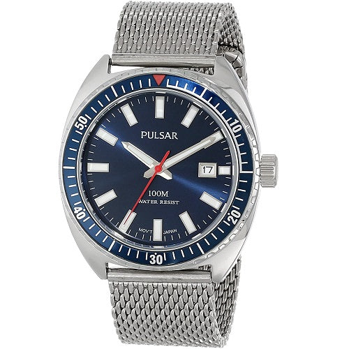 Pulsar Mens Stainless Steel 100M Water Resistant