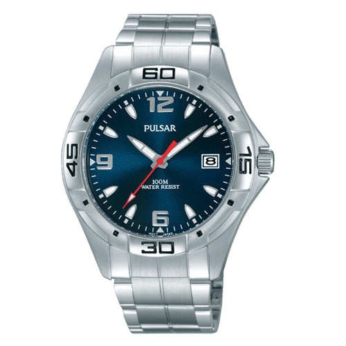 Pulsar Mens WORKERS WATCH 100M Water Resistant Screw Lock Crown