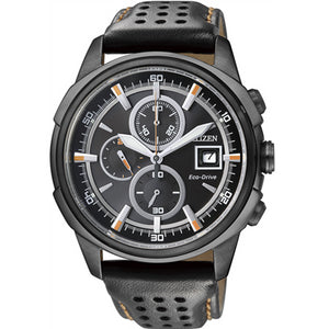 Citizen Eco-Drive Leather Strap 100m W/R 210 Day Power Reserve