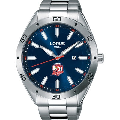 Lorus NRL Roosters Blue Dial 100M Water Resistant Stainless Steel