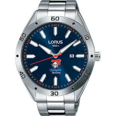 Lorus NRL Knights Blue Dial 100M Water Resistant Stainless Steel