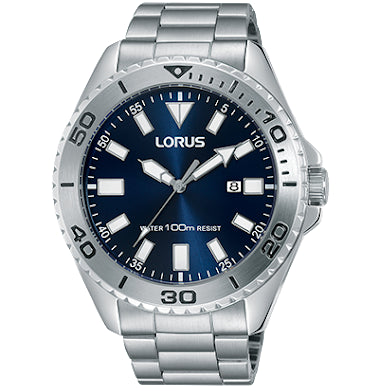 Lorus Mens 100M Blue Dial