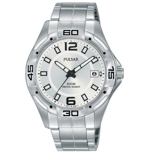 Pulsar Mens WORKERS WATCH Stainless Steel 100M Water Resistant