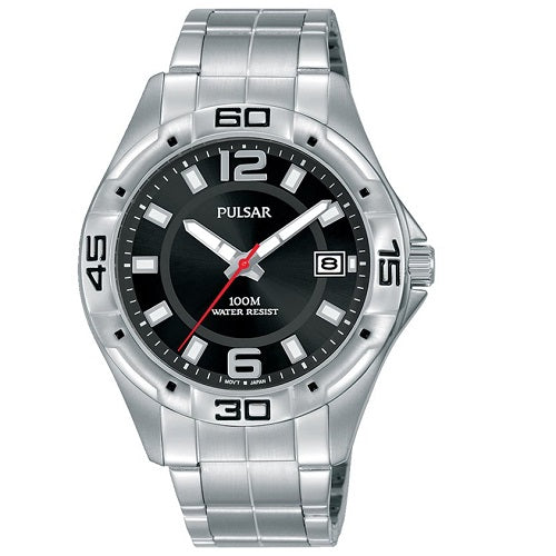 Pulsar Mens WORKERS WATCH 100M Water Resistant Stainless Steel