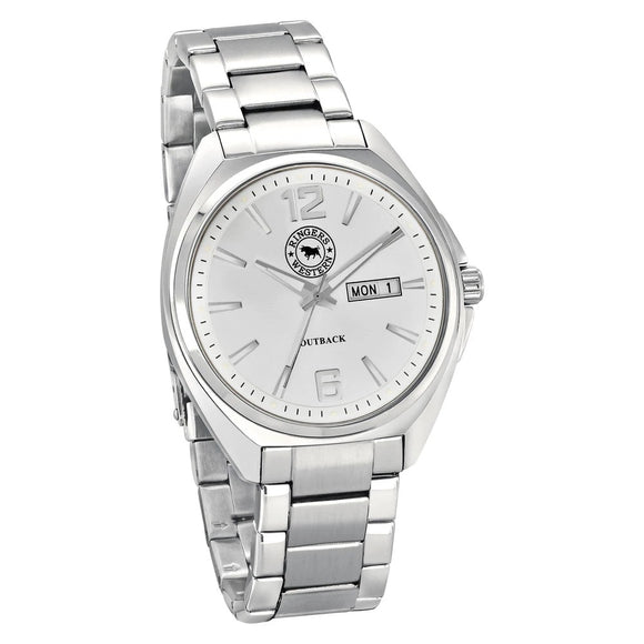 Ringers Western Stainless Steel Silver Dial Bracelet Strap