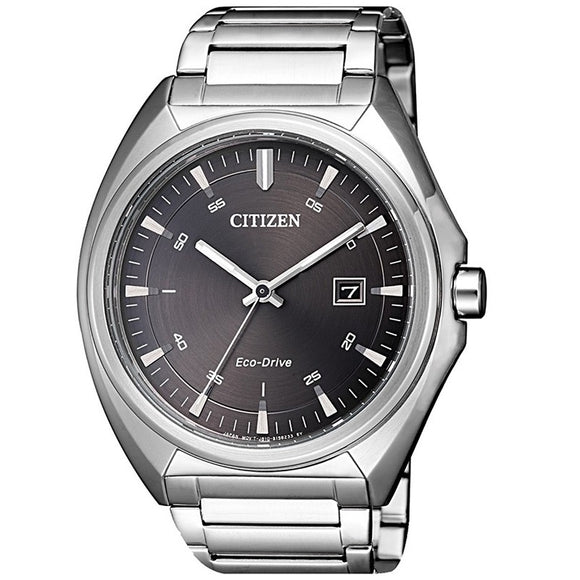 Citizen Gents Eco-Drive Stainless Steel Wr100m Black Dial