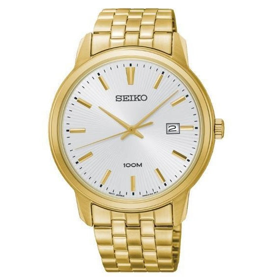 Seiko Mens Gold Plate 100M Water Resistant Daywear Watch