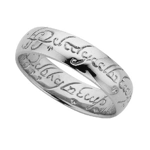 Sterling Silver Lord Of The Rings Engraved Ring