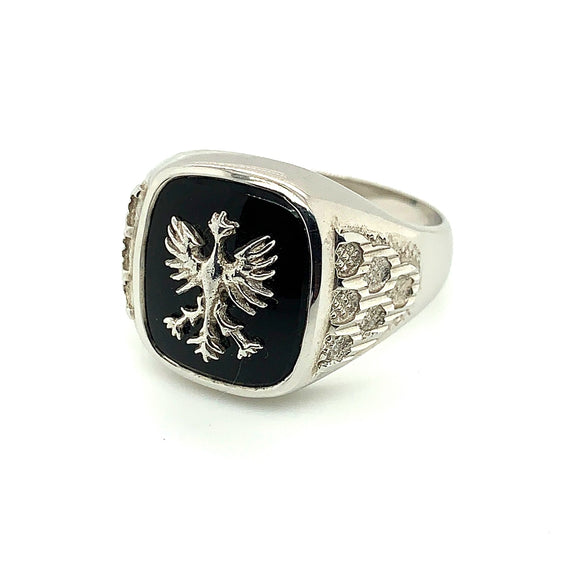 Sterling Silver Onyx Pheonix Ring