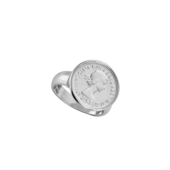 Sterling Silver Authentic Threepence Coin Ring