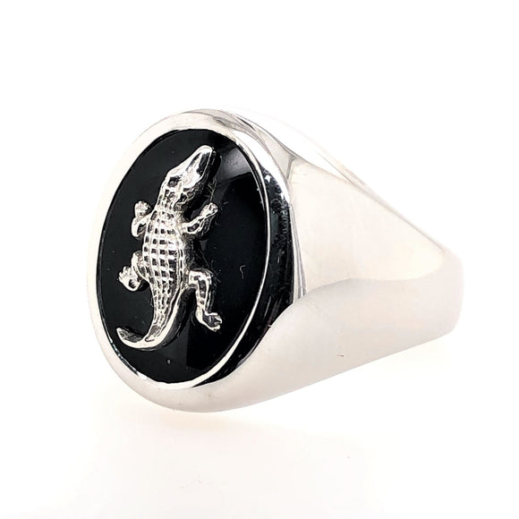 Sterling Silver Onyx Masonic Ring