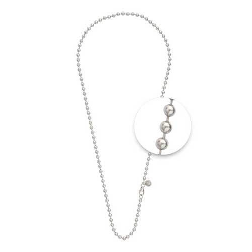 Nikki Lisson 48cm Silver Plated Ball Link Chain