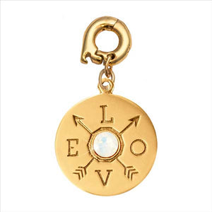 Nikki Lissoni Show Me Love Yellow Gold Plated Round Polished Pendant/Charm