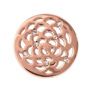 Nikki Lissoni Sunfl Rose Gold Plated 23mm coin