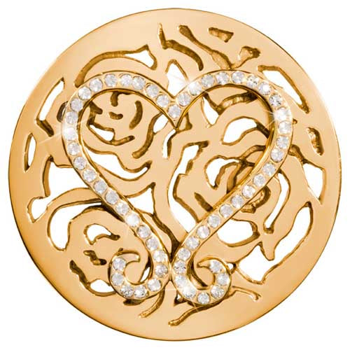Nikki Lissoni Lovley Roses Gold Plated 43mm coin