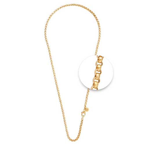 Nikki Lissoni 45cm Base Metal Yellow Gold Chain