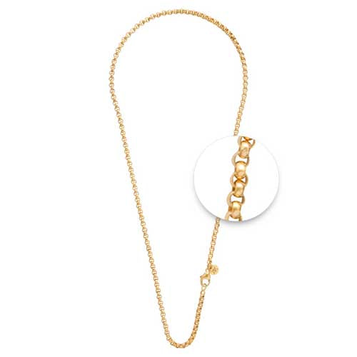 Nikki Lissoni 3mm 80cm Base Metal Yellow Gold Belcher Chain