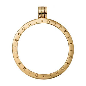 Nikki Lissoni Coin Holder Pendant Gold Plated 35mm