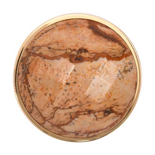 Nikki Lissoni Picture Jasper Gold Plated 33mm