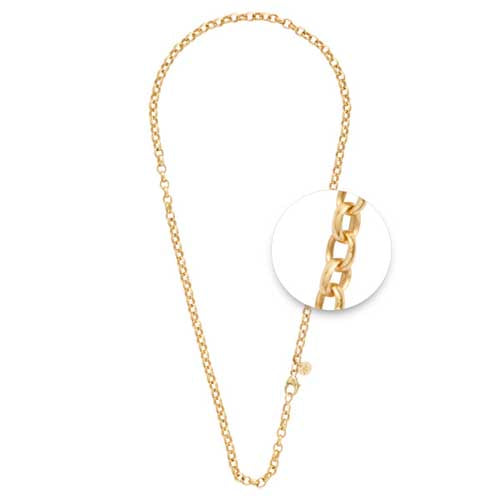 Nikki Lissoni Gold Plated 60cm Belcher Link Chain