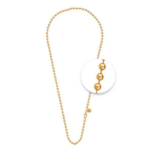 Nikki Lissoni Gold Plated 45cm Ball Link Chain