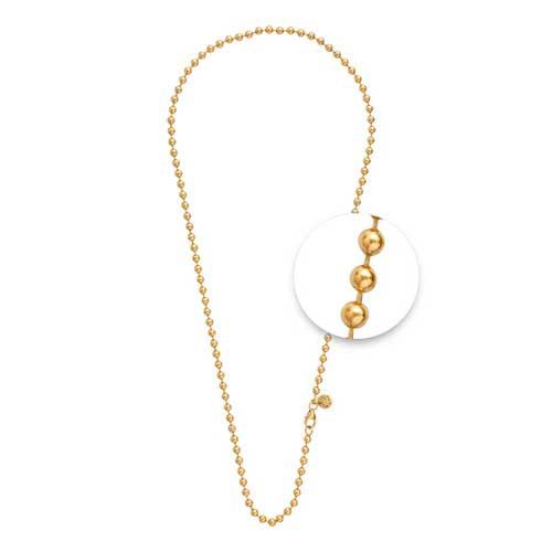 Nikki Lissoni Gold Plated 80cm Ball Link Chain