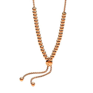 Ellani Stainless Steel 5mm Ball 65cm Neclace Rose Gold Plate