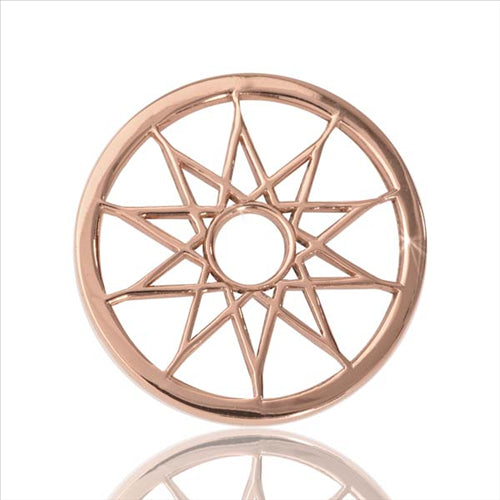 Nikki Lissoni Dream Catcher Rosegold Plate 23mm Coin
