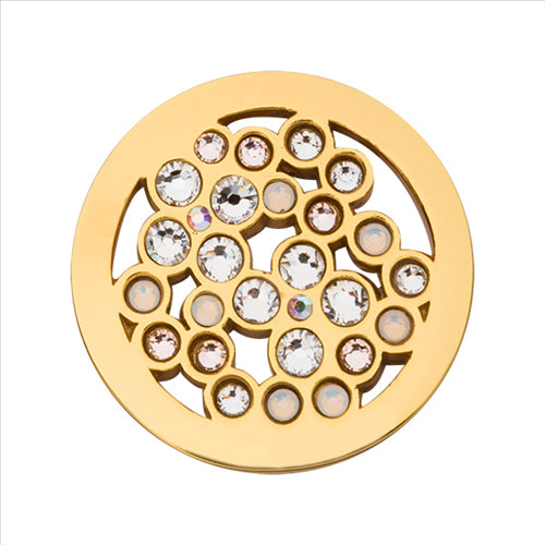 Nikki Lissoni Blossom Dots Gold Plated 23mm Coin