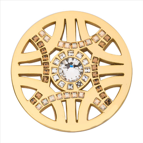 Nikki Lissoni Royal Chic Gold Plated 33Mm Coin