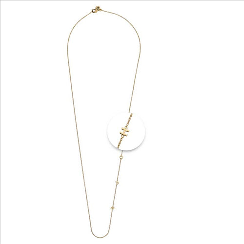 Nikki Lissoni Hope Necklace Gold Plated 60cm