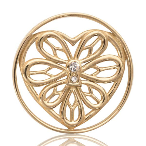 Nikki Lissoni Peaceful Heart Coin Gold Plated 33mm Coin