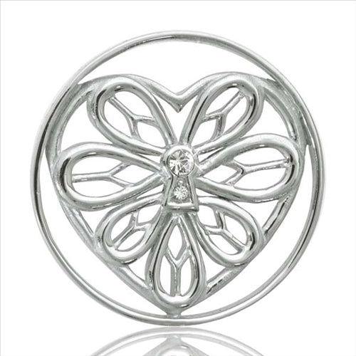 Nikki Lissoni Peaceful Heart Silver Plated 33mm Coin
