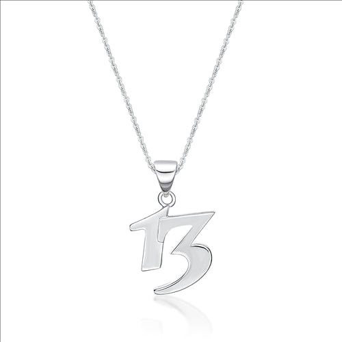 Sterling Silver 13 Pendant And Chain