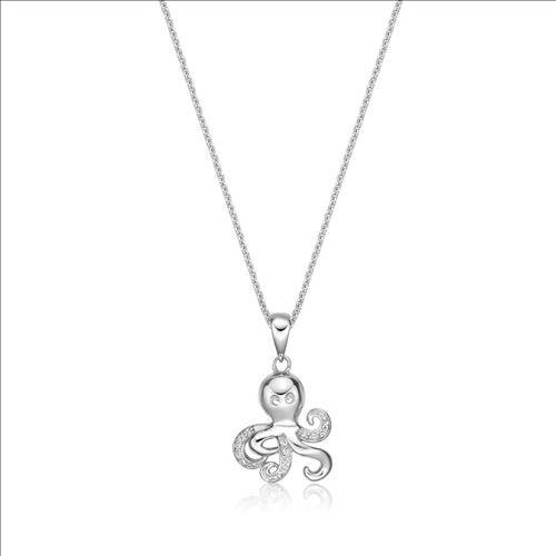 Sterling Silver Octopus Pendant With Chain