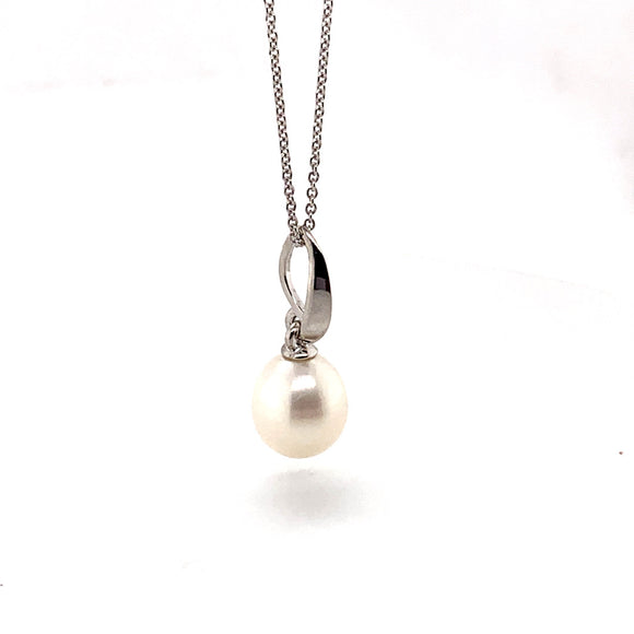 Sterling Silver Fresh Water Pearl Pendant with 45cm Chain