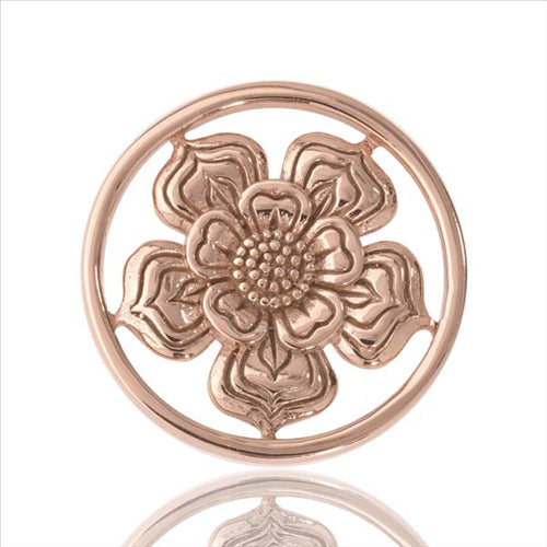 Nikki Lissoni Rose Gold Plate 23mm Coin Lovely Flower