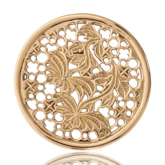 Nikki Lissoni Gold Plate 33mm Coin Paradise In Me
