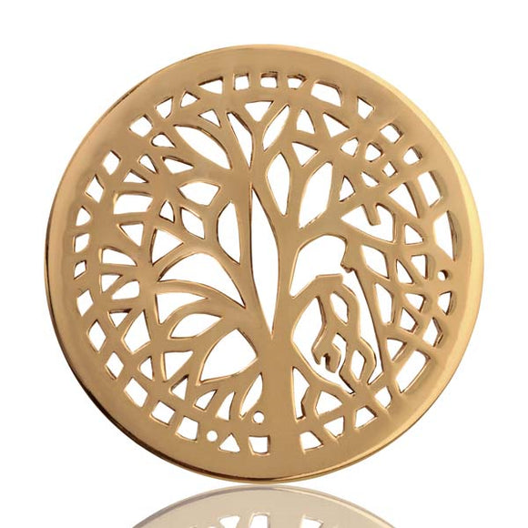 Nikki Lissoni Gold Plate33mm Coin Tree Of Life