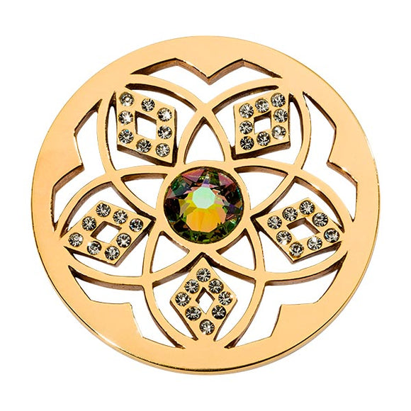 Nikki Lissoni Gold Plate 33mm Coin Charming Flower