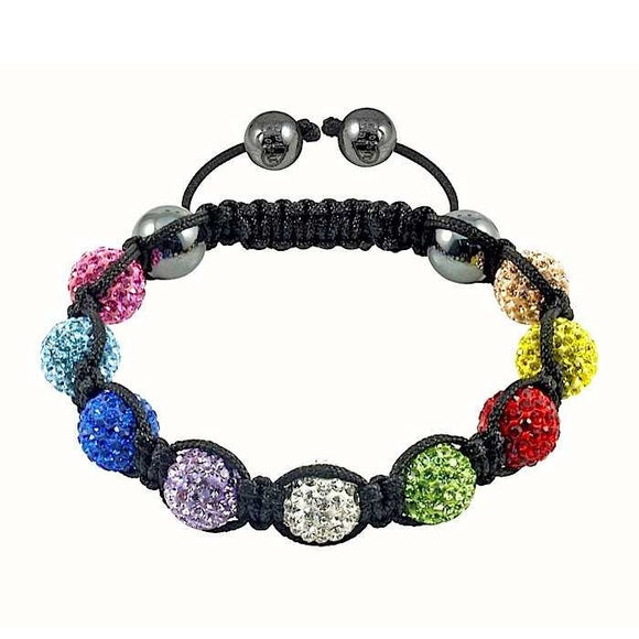 Tresor Paris 9 Mix Colour Bracelet Swarovski Crystal