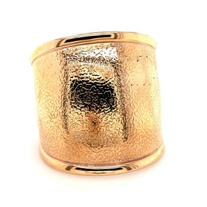 Ellani Stainless Steel Rose Gold Plated Wide Cuff