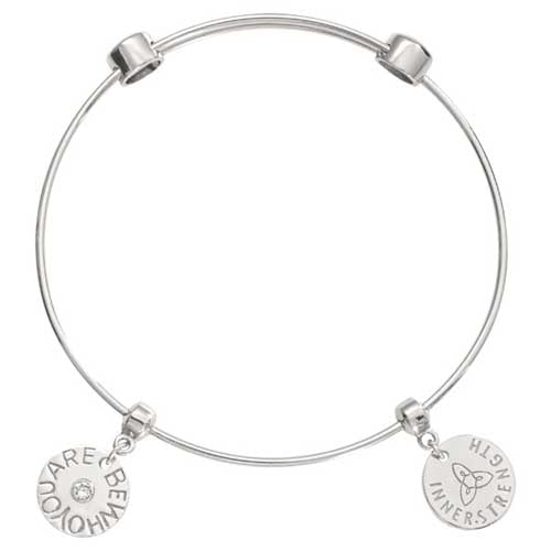 Nikki Lissoni Be Who You Are Silver Plated Bangle 19cm