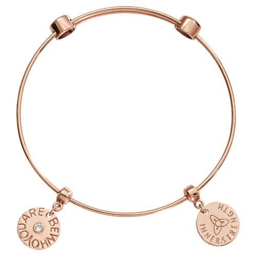 Nikki Lissoni Be Who You Are Rose Gold Plated Bangle 19cm